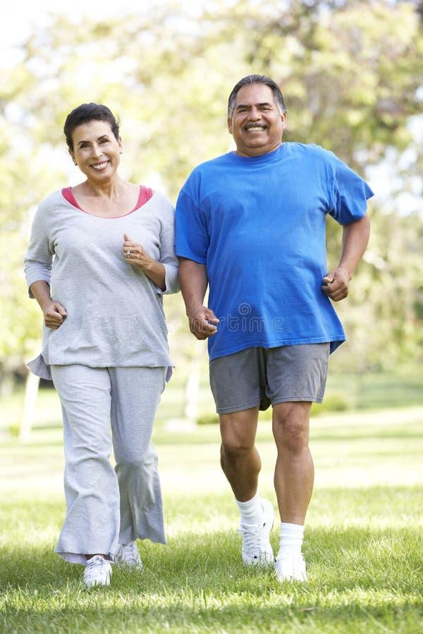 Download Senior Couple Jogging In Park Stock Image - Image: 11503211