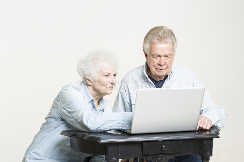 Download Senior Couple Is Looking At Bills Concerned Stock Image - Image: 33488351
