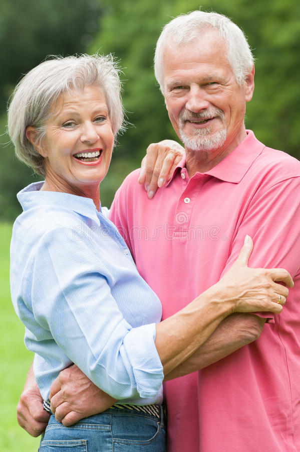 Senior couple in love royalty free stock photos