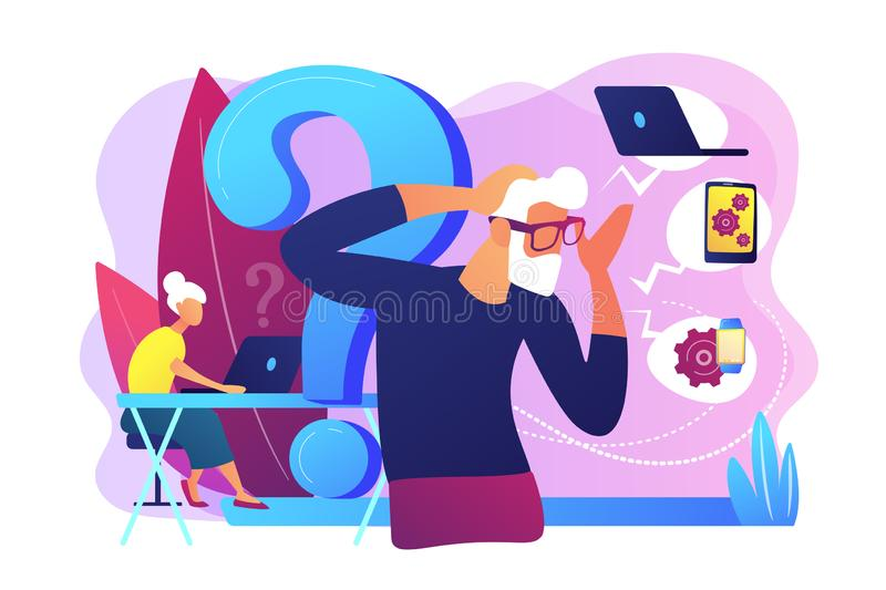 Low-technical communication concept vector illustration royalty free illustration