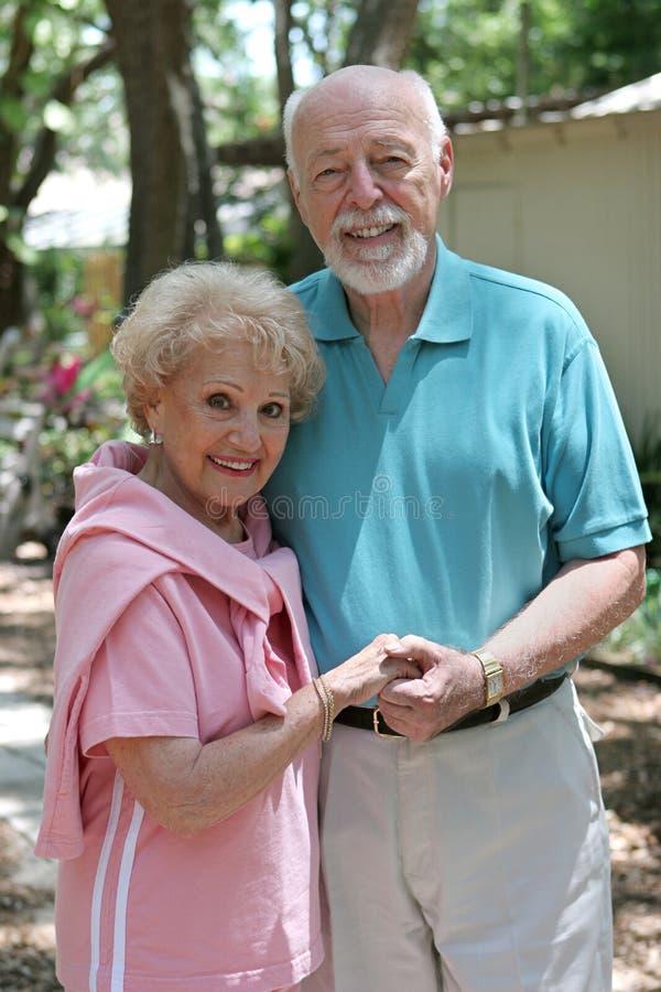 Senior Couple Outdoors royalty free stock image