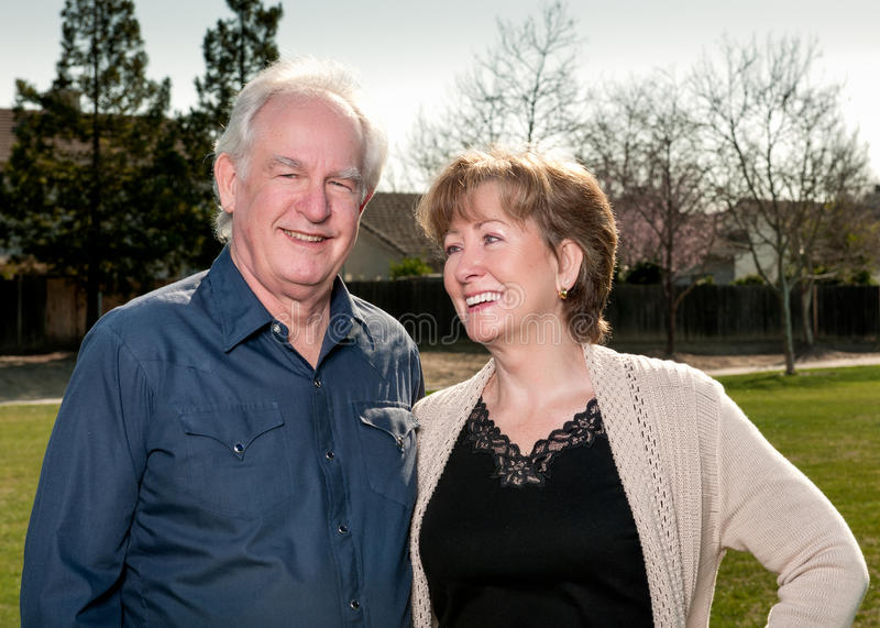 Senior Couple Outdoors royalty free stock photos