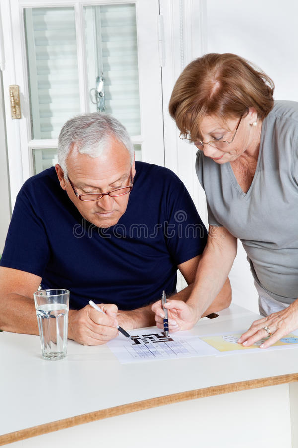 Download Senior Couple Playing Leisure Games Stock Image - Image of paper, home: 36580469