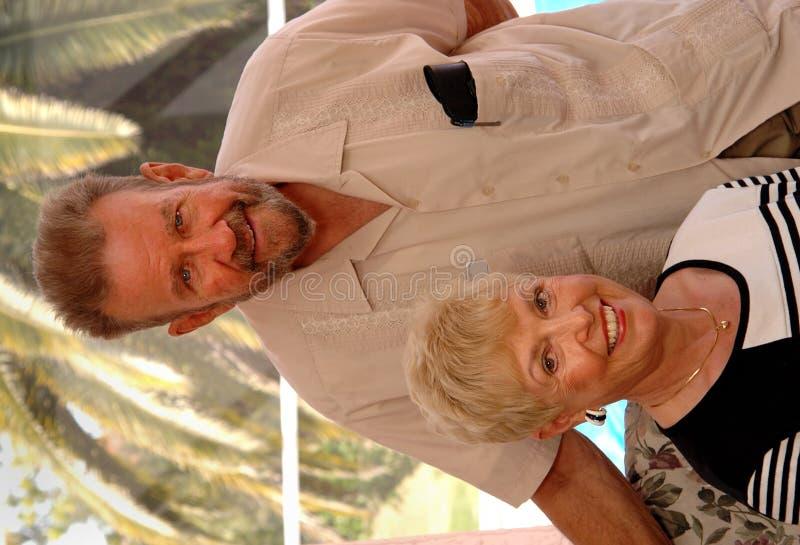 Senior couple portrait stock photos