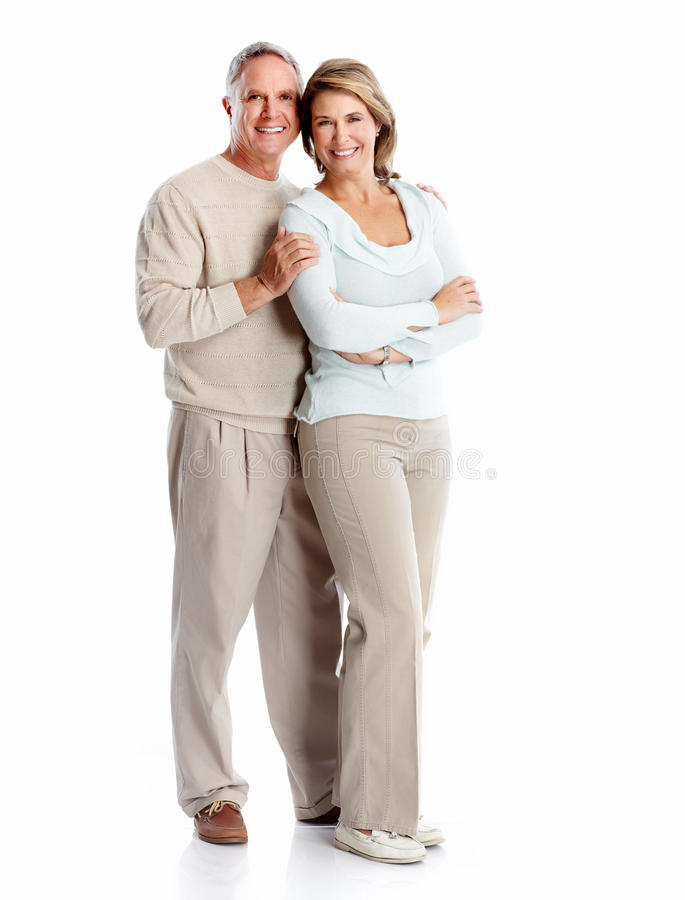 Senior couple portrait. royalty free stock photos