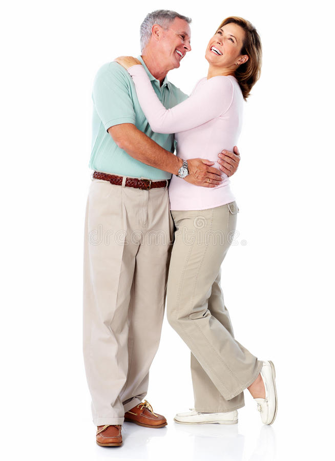 Senior couple portrait. royalty free stock image
