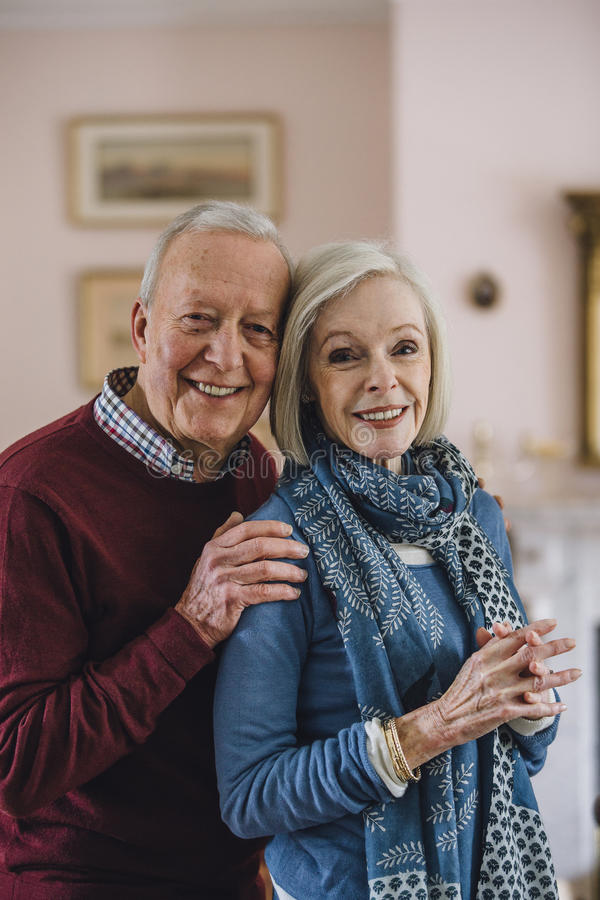 Senior Couple Portrait stock photography