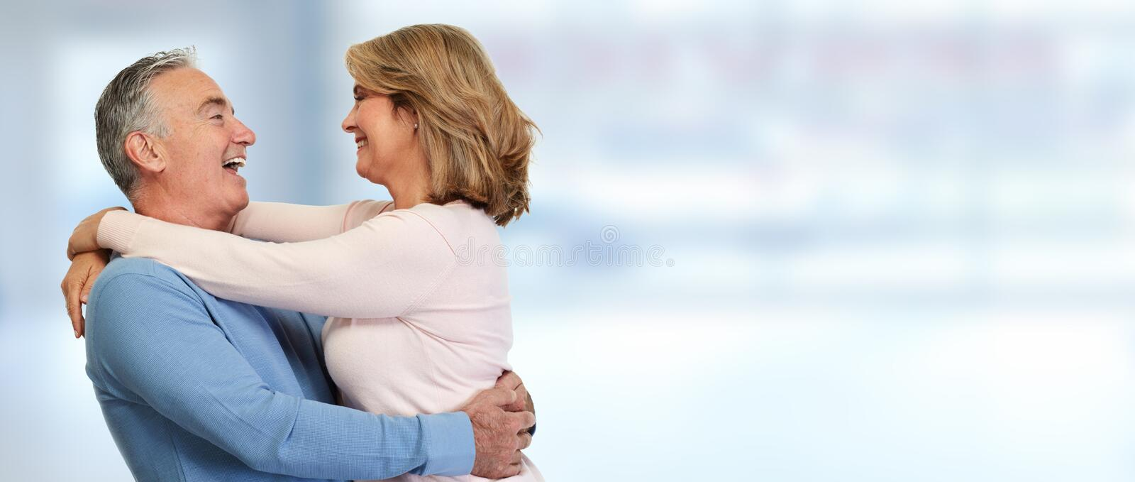 Senior couple smiling. royalty free stock image