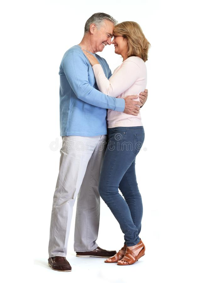 Senior couple smiling. stock photo