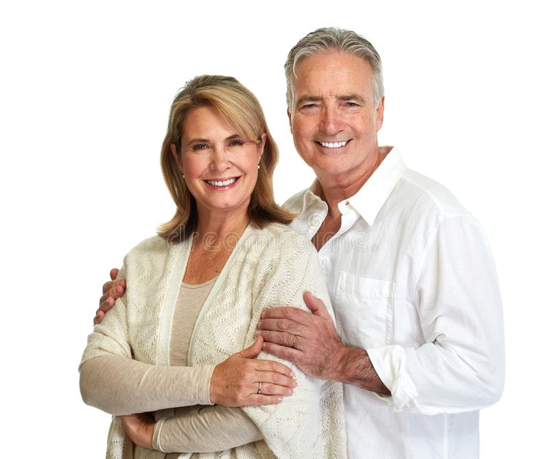 Senior couple smiling. royalty free stock photo