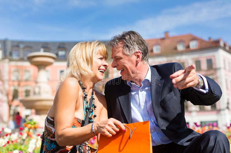 Download Senior Couple During Spring In The City Stock Photo - Image: 26869050