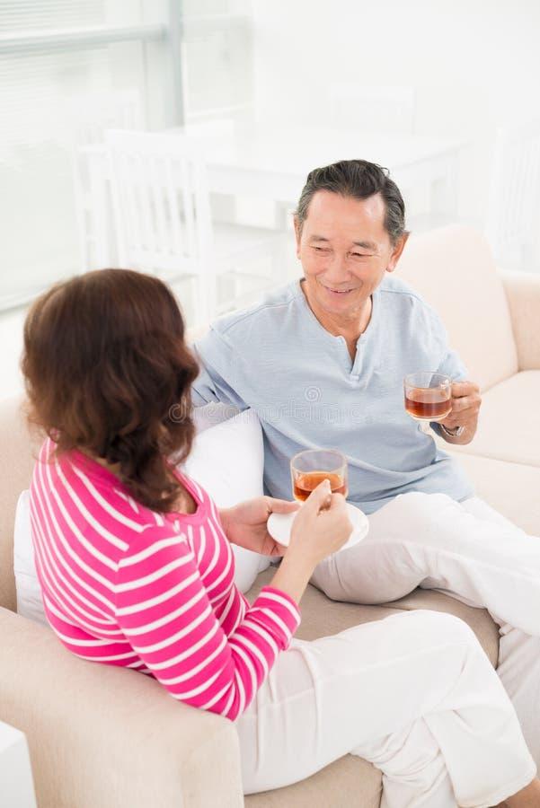 Download Tea time stock image. Image of elderly, holding, darling - 30095451