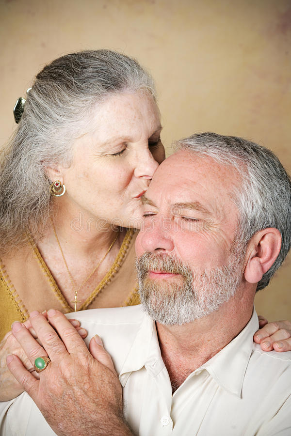 Senior Couple - Tender Kiss stock images
