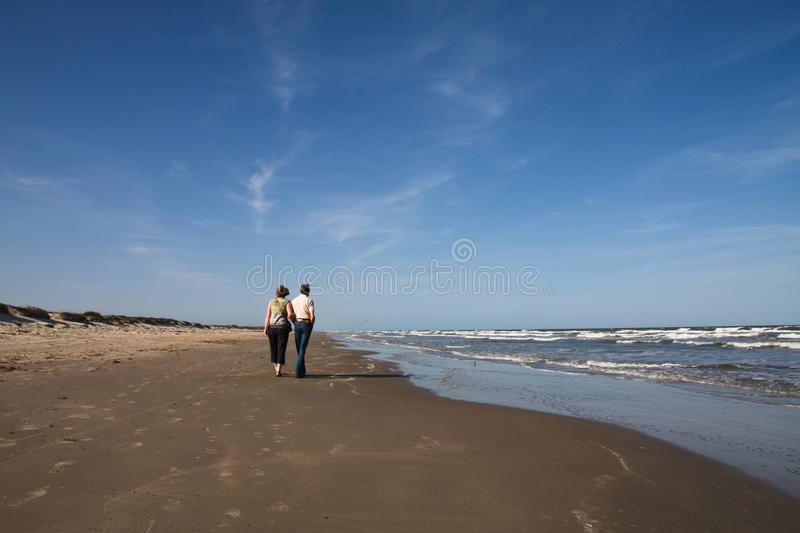 Download Senior Couple Walking On The Beach Stock Photo - Image: 19049958