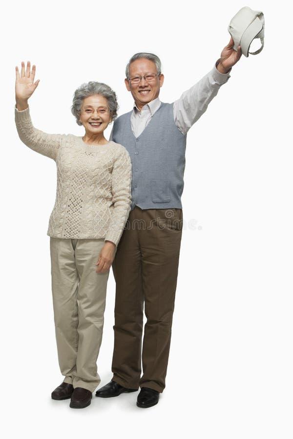 Download Senior Couple Waving Goodbye Stock Image - Image: 31695063