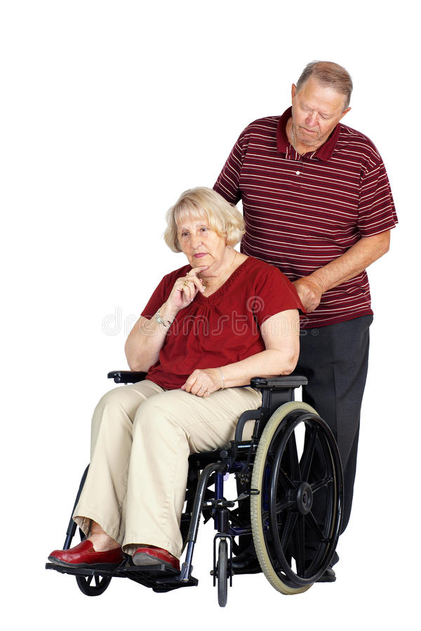 Download Senior Couple With Woman In Wheelchair Stock Image - Image: 25380945