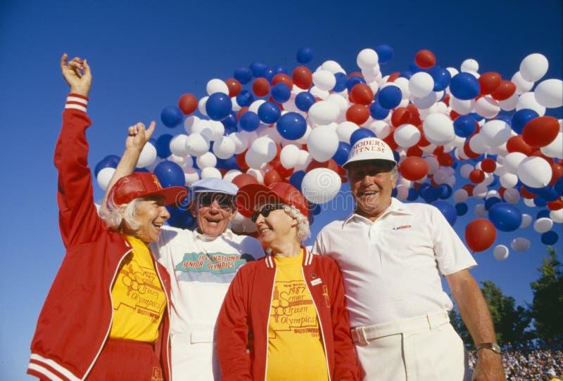 Download Senior couples editorial photo. Image of exhilaration - 23149321