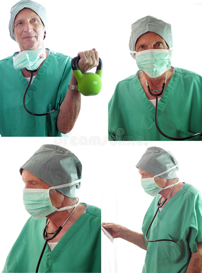 Download Senior Doctor Collage Isolated Stock Photo - Image: 32837782