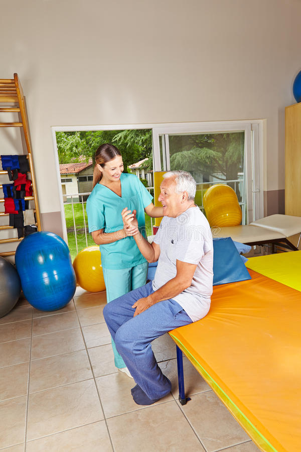 Download Senior Doing Remedial Gymnastics Stock Image - Image: 29057263