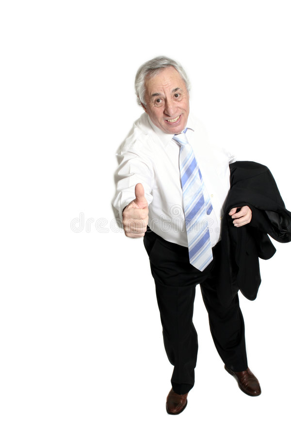 Senior doing thumbs up stock photography