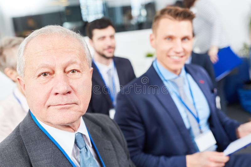 Senior entrepreneur as manager stock photo