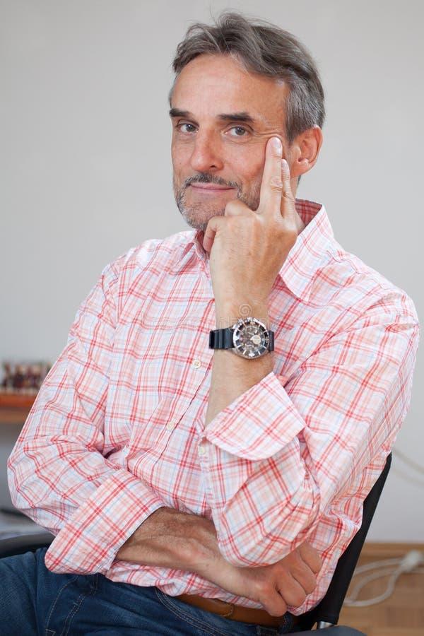 Senior executive business manager thinking royalty free stock image