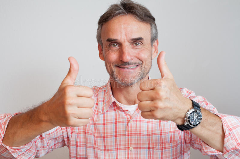 Senior executive business manager - thumbs up royalty free stock photography