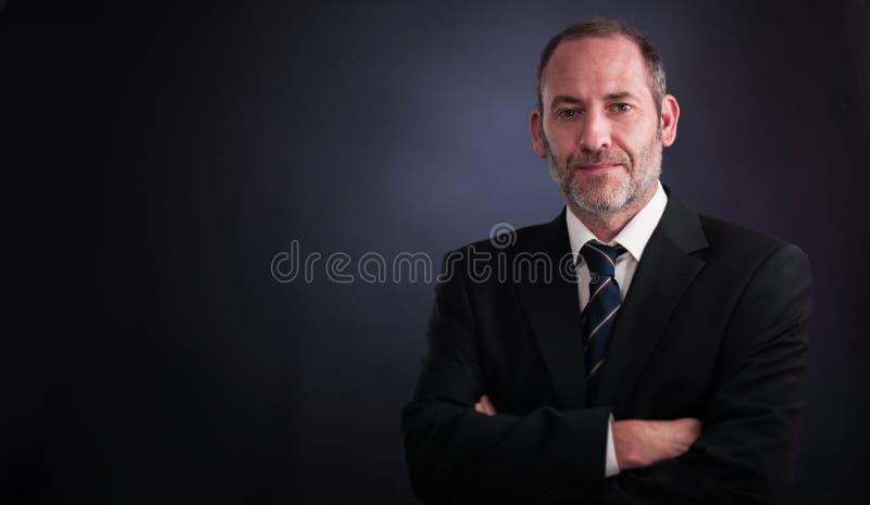 Senior executive businessman. Successful senior executive businessman smiling into the camera stock photos