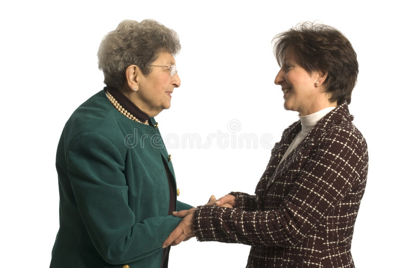 Senior executive team. Senior executive partners or care giver and mature woman stock photo