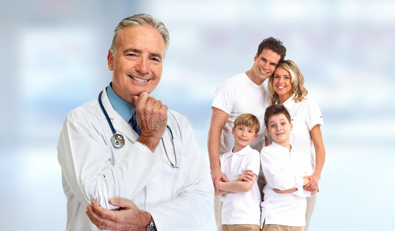 Senior family doctor stock photography