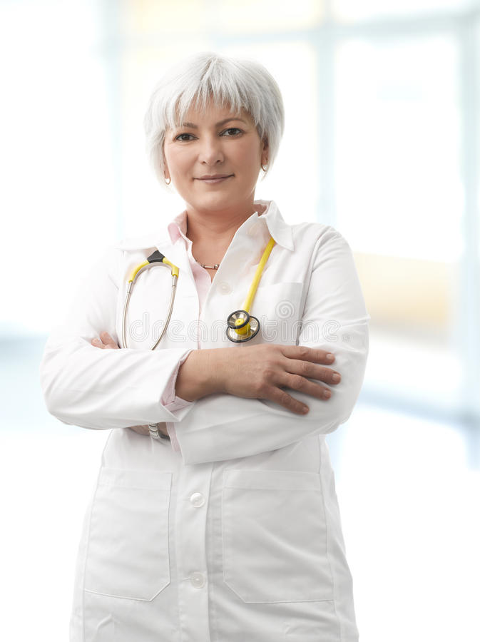 Download Senior Female Doctor stock image. Image of emergency - 30405325