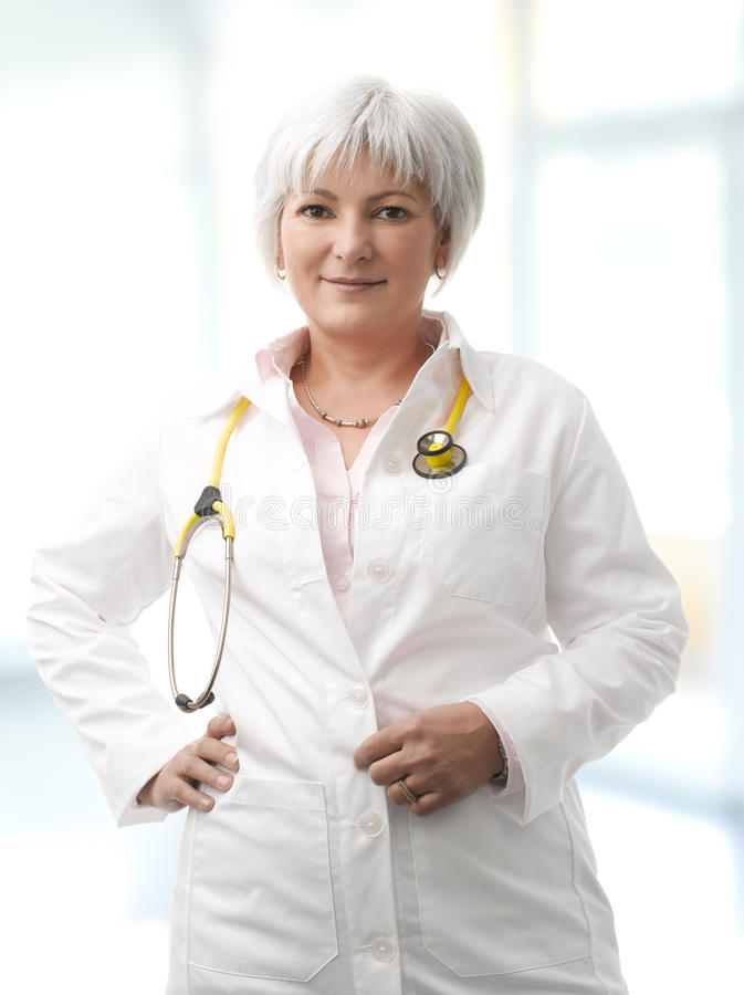 Download Senior Female Doctor stock photo. Image of expression - 30405382