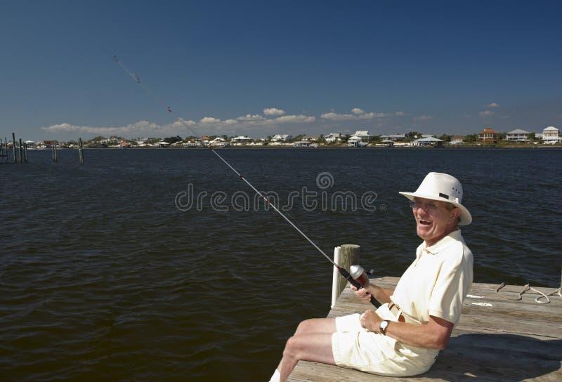 Download Senior Fisherman stock image. Image of retired, senior - 11443175