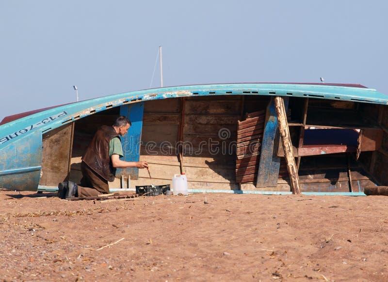 Download Senior Fisherman At Work Editorial Stock Photo - Image: 14345628