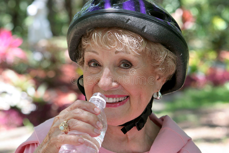 Senior Fitness Hydration royalty free stock photos