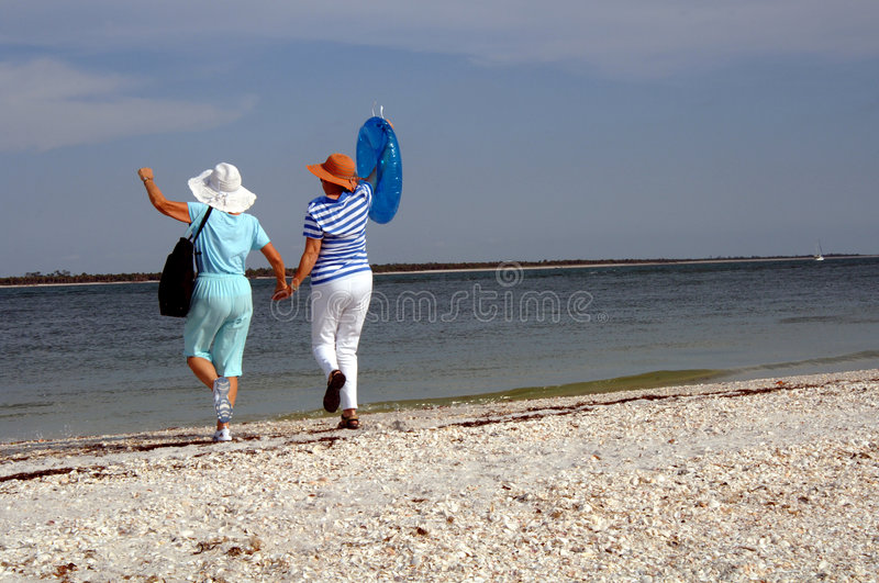 Download Senior Friends Beach Vacation Stock Image - Image: 2583957