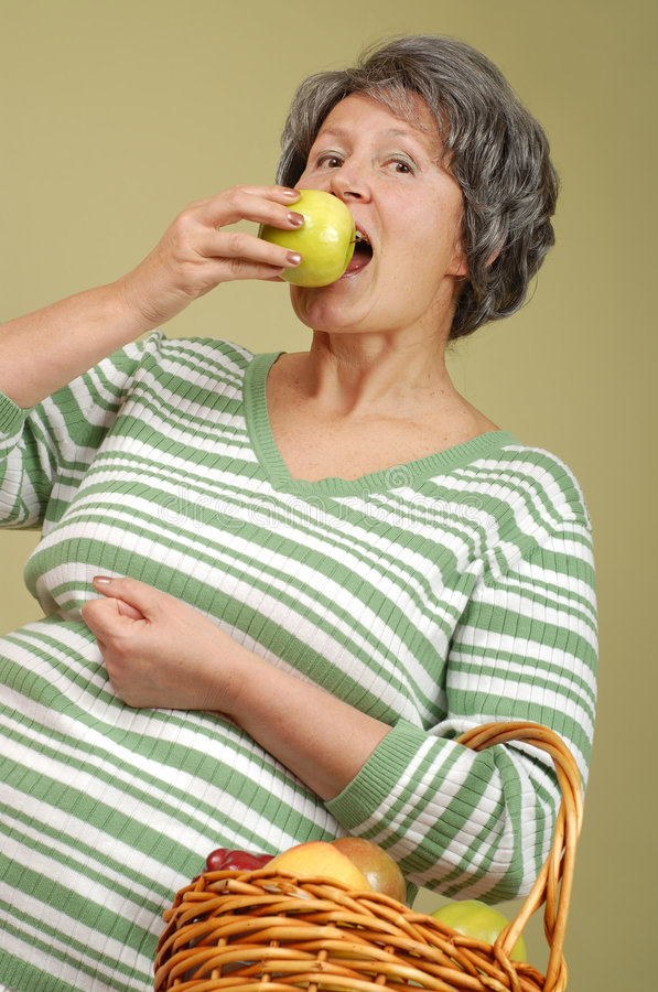 Download Senior with fruit stock image. Image of laughing, expression - 4378045