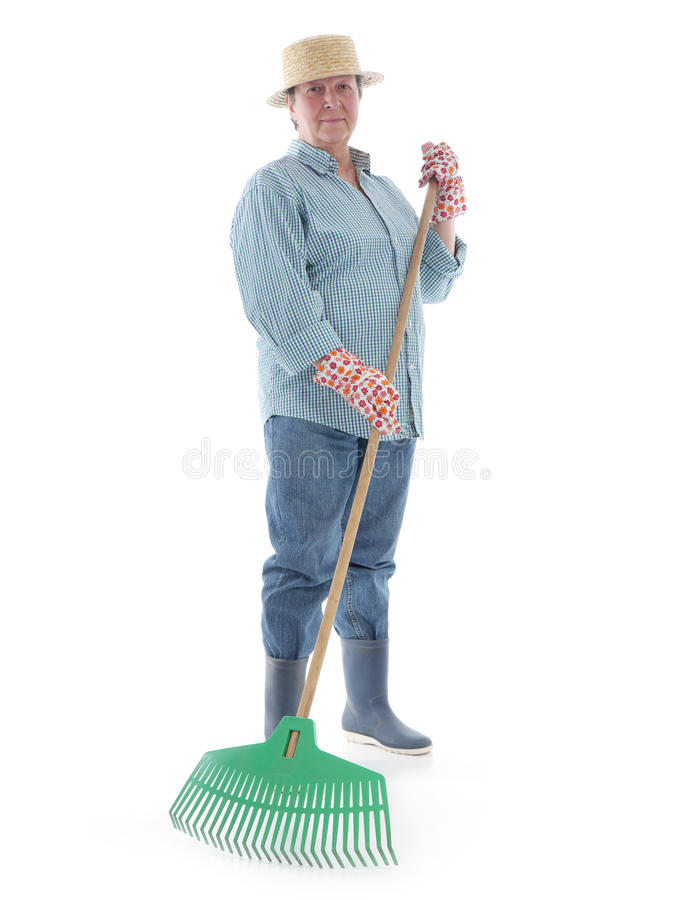 Download Senior Gardener With Rake Stock Image - Image: 30970421