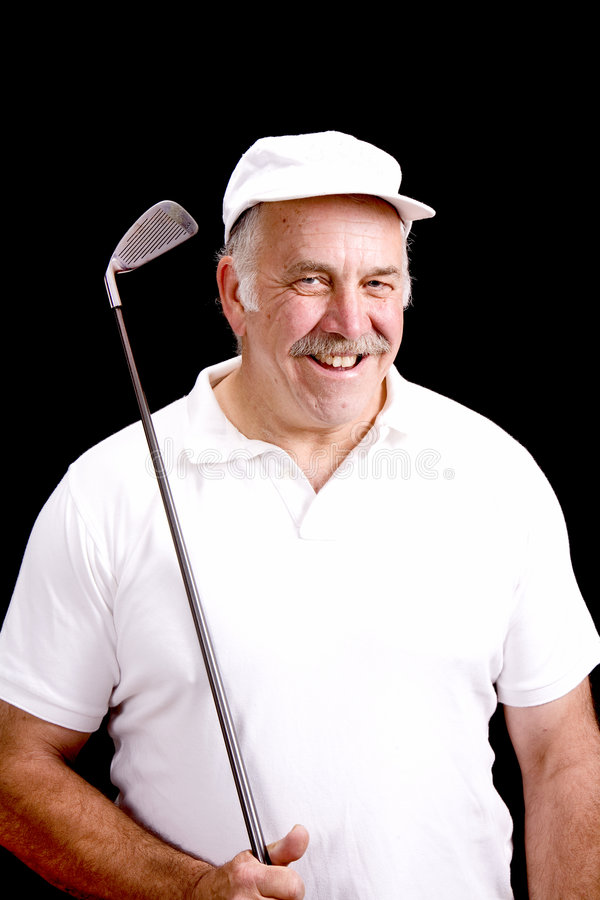 Download Senior Golfer stock photo. Image of player, weekend, sport - 6394712