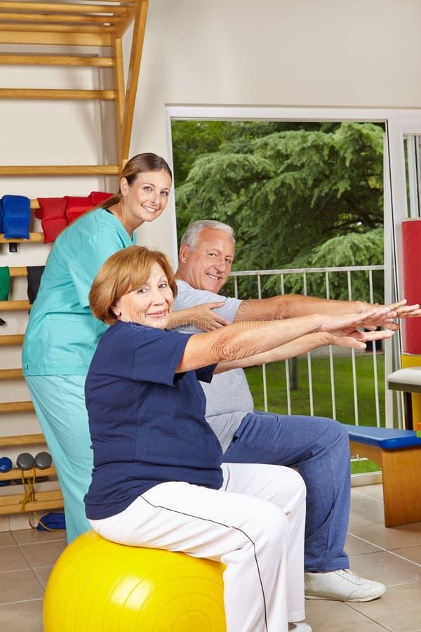 Download Senior Group Doing Back Training Stock Images - Image: 29195324