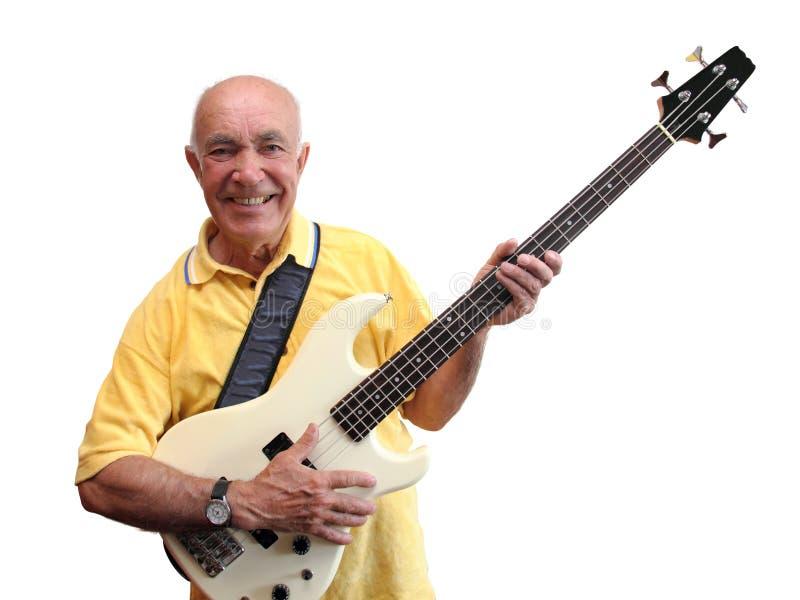Senior guitar man royalty free stock images