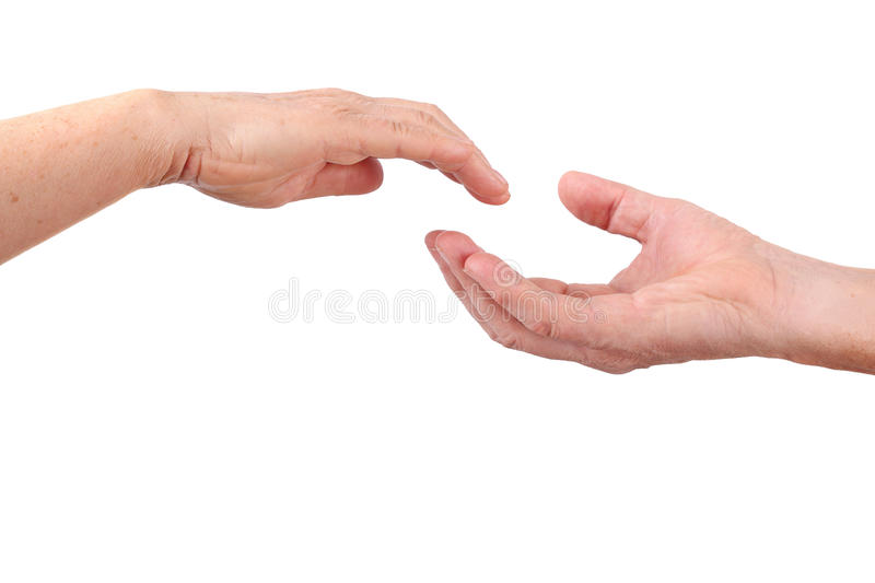 Download Senior Hand Close To Other Hand Stock Photo - Image of adult, human: 28023480