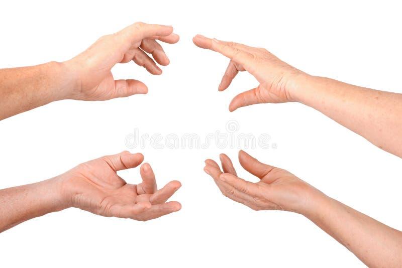 Download Senior Hands Show Hold Fingers Gesture Stock Image - Image: 28023451