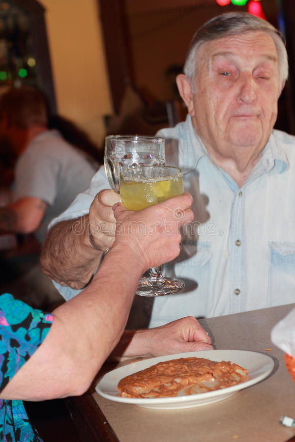 senior happy toast royalty free stock photos
