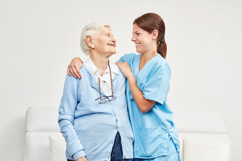 Senior has confidence in nursing wife royalty free stock photos