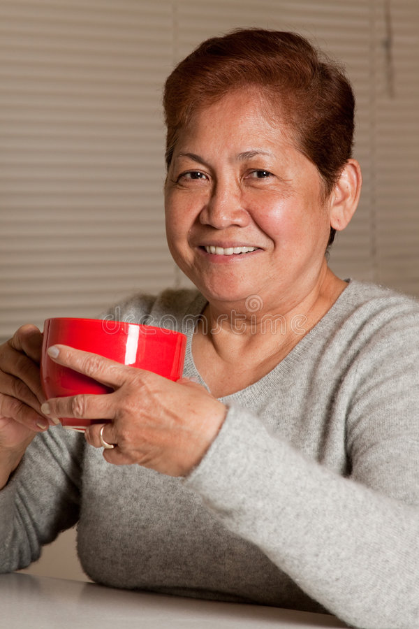Download Senior have coffee stock image. Image of expression, smile - 9027359