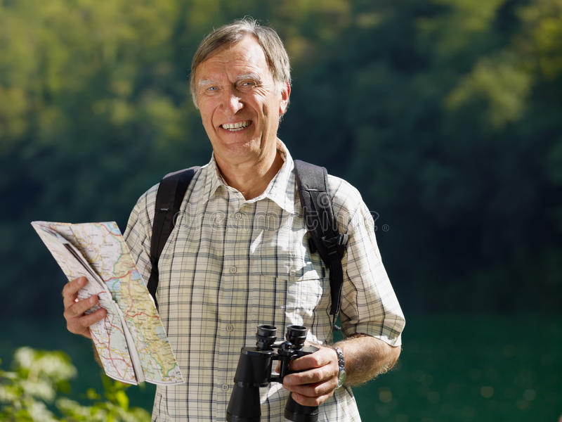 Download Senior hiker stock photo. Image of adult, bird, leisure - 11127764