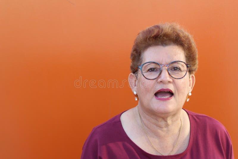Senior Hispanic stockfotografie