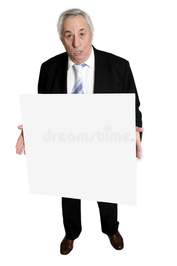 Senior holding board stock photography