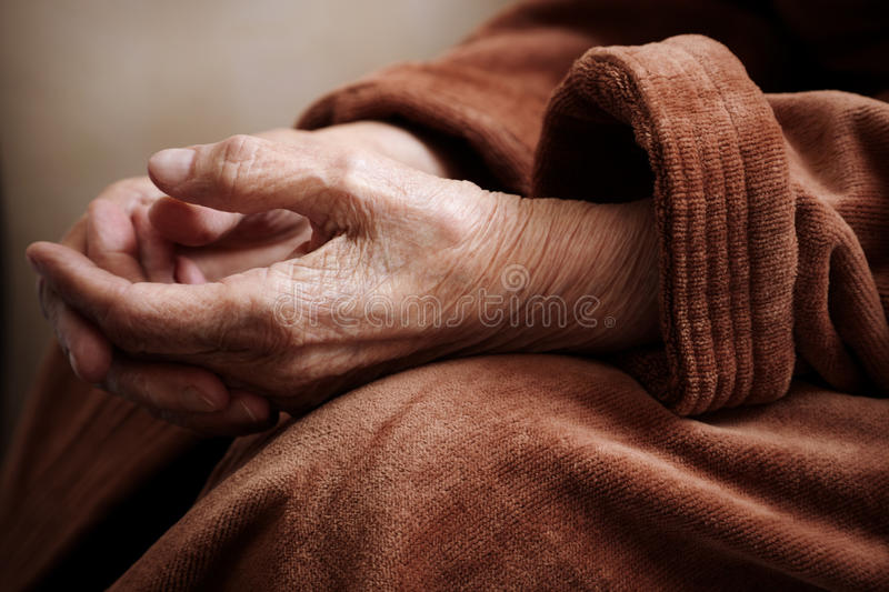 Download Senior in hospital gown stock image. Image of conceptual - 14185115